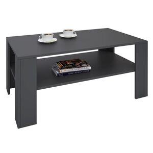 IDIMEX Table basse LORIENT, en mélaminé gris mat - Publicité