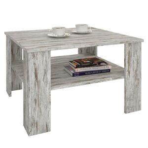 IDIMEX Table basse SEJOUR, en mélaminé décor shabby chic - Publicité