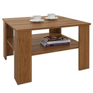 IDIMEX Table basse SEJOUR, en mélaminé couleur noyer - Publicité