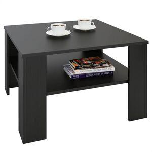 IDIMEX Table basse SEJOUR, en mélaminé noir mat - Publicité