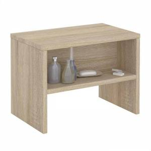 IDIMEX Table de chevet DION, en mélaminé décor chêne sonoma - Publicité