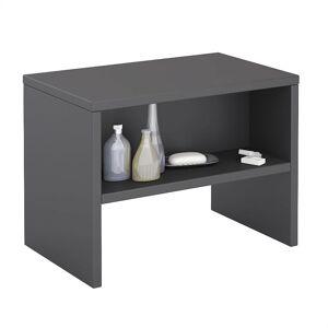 IDIMEX Table de chevet DION, en mélaminé gris mat - Publicité