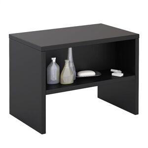 IDIMEX Table de chevet DION, en mélaminé noir mat - Publicité