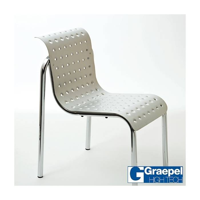 Graepel High Tech Chaise Pep assise couleur Inox intérieure design GRAEPEL