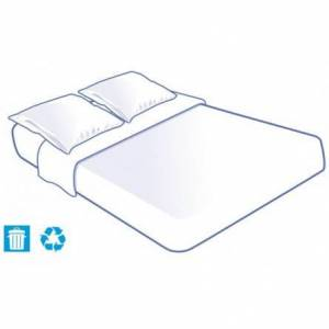 Prorisk Kit literie jetable housse complet (alèse + taie + drap) pour lit 2 places 140x190cm - Publicité