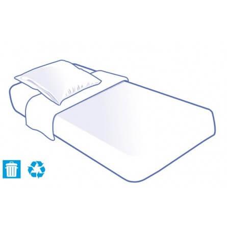 Prorisk Kit literie jetable housse complet (alèse + taie + drap) pour lit 1 place 90x190cm