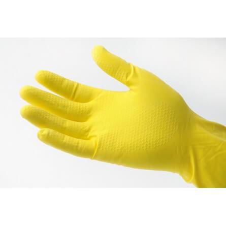 GM Equipement Gants de ménage jaunes en latex
