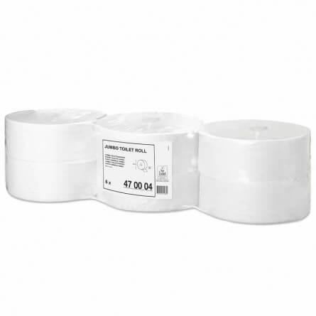 Prorisk Papier toilette blanc MAXI JUMBO double épaisseur