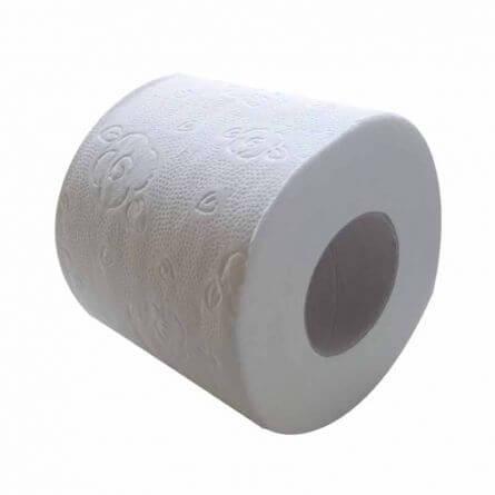 Prorisk Papier toilette en rouleau 3 plis blanc micro gaufré