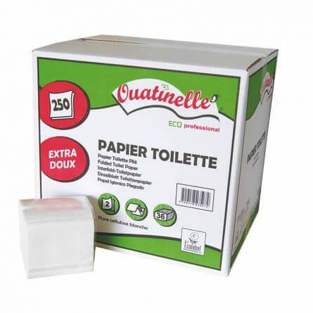 Prorisk Papier toilette enchevêtré en paquets de 250 Feuilles