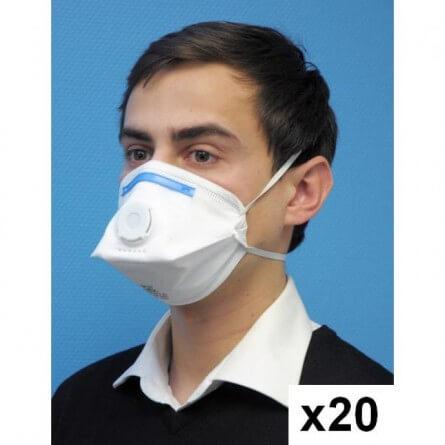 Prorisk Masques de protection FFP3 pliable avec soupape (20 pcs)