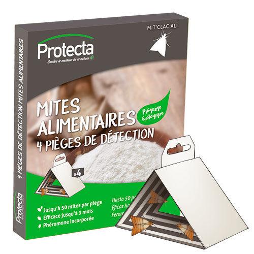 PROTECTA Pièges Anti-mites alimentaires glu à suspendre - Boite de 4