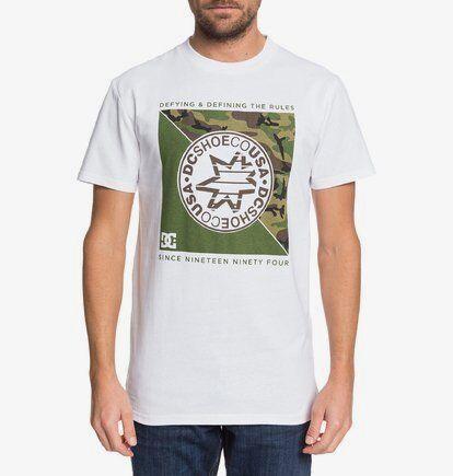 DC Shoes Rules Definition Ss - T-shirt pour Homme - Blanc - DC Shoes