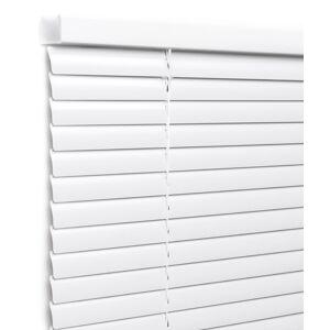 Store vénitien aluminium Lames 25mm Sans percage, Blanc brillant, sur mesure - Publicité