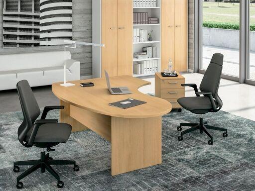 Kesiolt Bureau de direction ADAMS compact, produit fabriqué en Italie