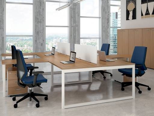 Kesiolt Bureau bench 4 personnes CLASSIC-B, made in Italy
