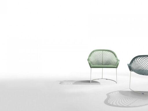 Volia Chaise design pieds luge, produit en italie