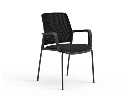 Deskissimo lot de 4 chaises pas chères pour visiteurs, produit en espagne