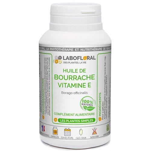 PHYTAFLOR Huile de Bourrache + Vitamine E Phytaflor - . : 300 Capsules