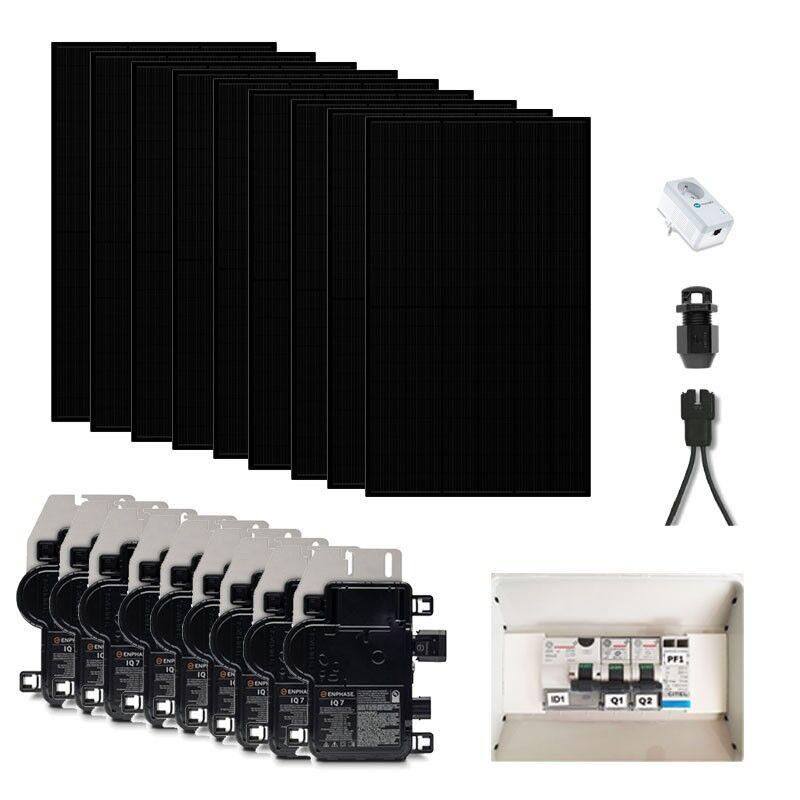 Kit solaire 3015 wc - Panneaux Qcells Full Black avec Micro-onduleur IQ7+