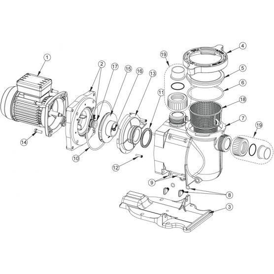 Pentair N°17 - Garniture mécanique de pompe Superflo Pentair