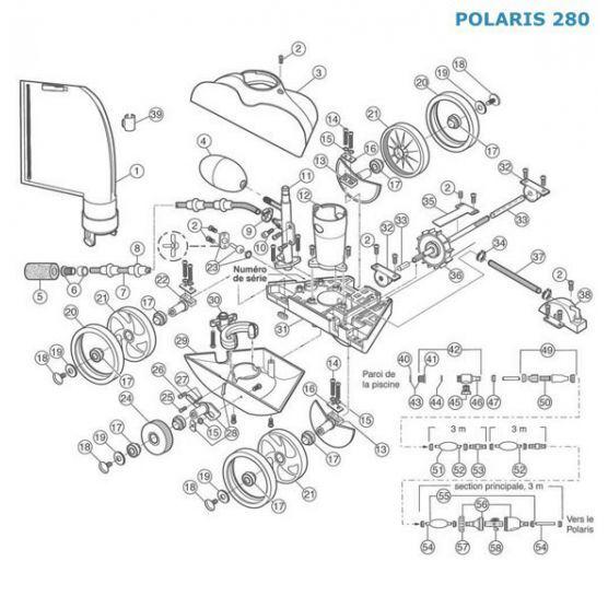 Polaris N°28 - Axe mobile de roue dentelée Polaris 280