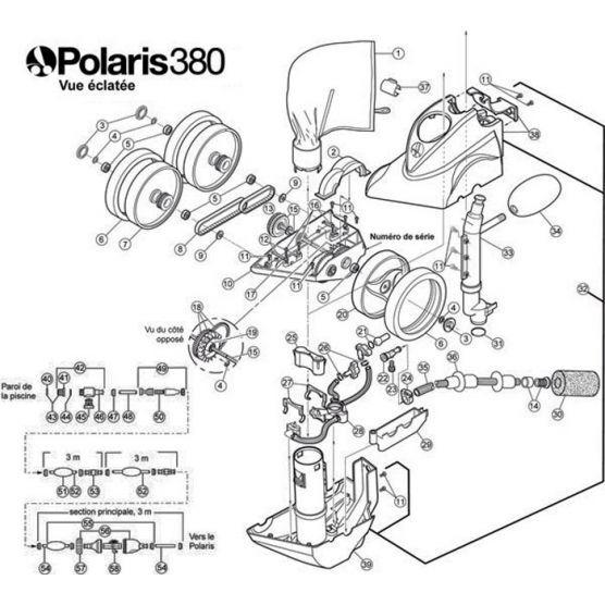 Polaris N°50 - Crépine métal, filtre en ligne Polaris 380