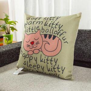 Coussin Sleepy Kitty polyester