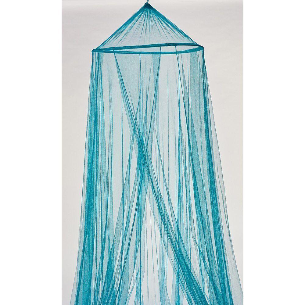 Moustiquaire ciel de lit bleu polyester