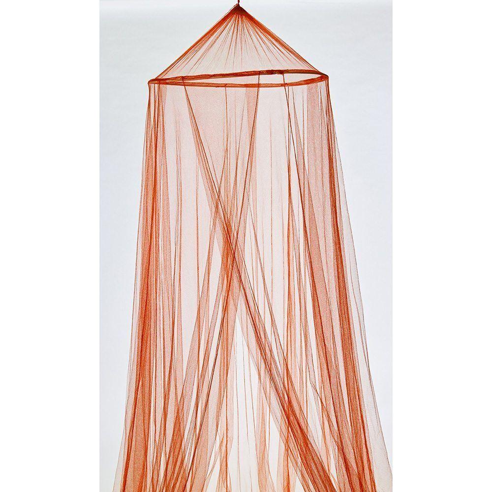 Moustiquaire ciel de lit orange polyester