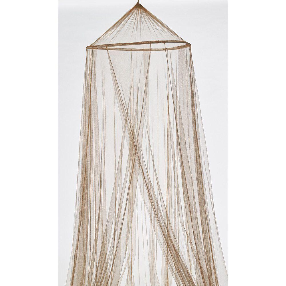Moustiquaire ciel de lit taupe polyester