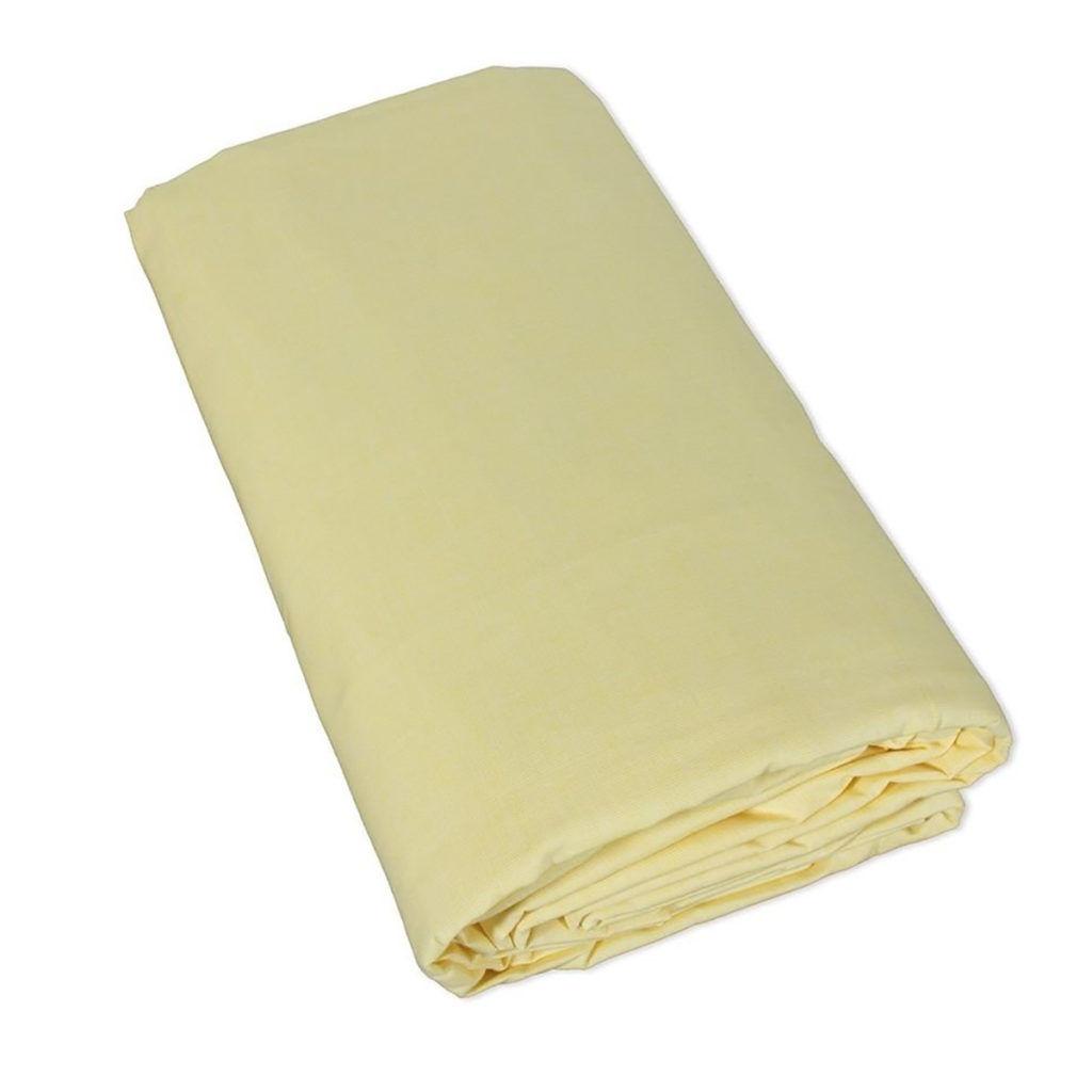 Drap housse uni 100% coton 57fils - Beige, 160x200cm coton