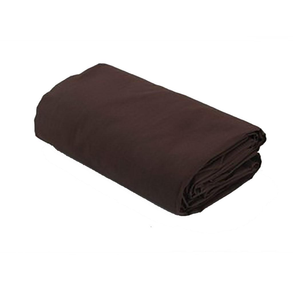 Drap housse uni 100% coton 57fils chocolat coton