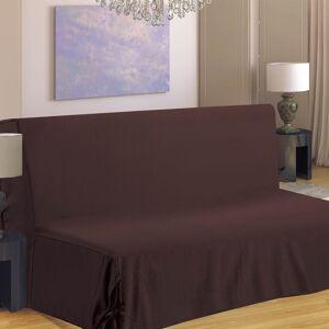 Housse de canapé BZ Hana 2 places chocolat polyester