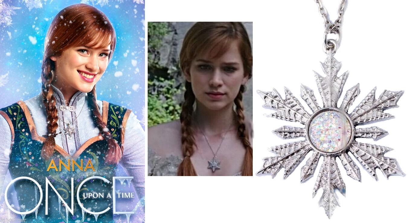 nobrand Réplique pendentif flocon d'Anna dans Once upon a time