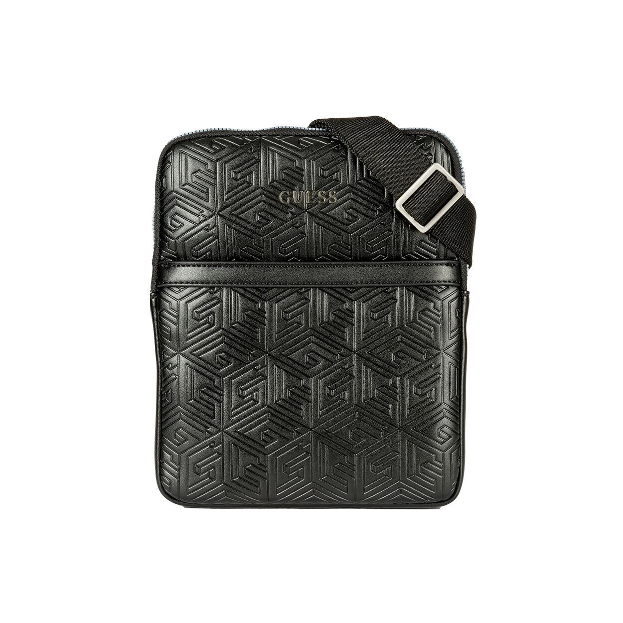 Guess Accessoires Sacoche plate à bandoulière Guess noire à formes géométriques - NOIR -