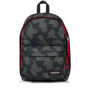 Eastpak Sac à dos Eastpak Out of Office en toile à motif camouflage noir, rouge et gris 27L - Gris noir rouge - - Publicité