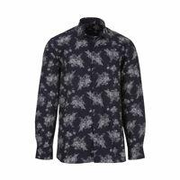 Jean Chatel Paris Chemise droite Jean Chatel Paris en coton bleu marine à imprimé floral blanc - BLEU - <br /><b>77.9 EUR</b> Rue des Hommes