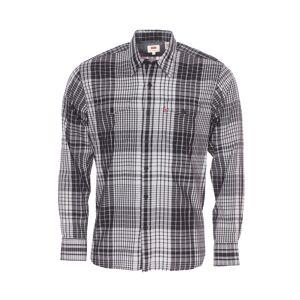 Levi's Chemise droite Levi's Modern Barstow Western Judson en coton et lyocell à carreaux blancs et noirs - NOIR - S