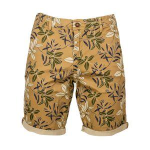 Jack & Jones Short chino Jack & Jones Bowie en coton stretch vert kaki à fleurs beiges et noires - KAKI - M