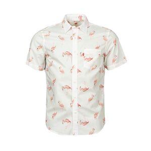 Levi's Chemise coupe ajustée manches courtes Levi's Sunset Flamingo en coton blanc à motifs flamants roses - BLANC - XL