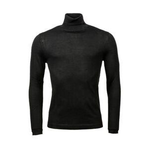 Superdry Pull col roulé Superdry Rollneck en laine noire - Noir - - Publicité