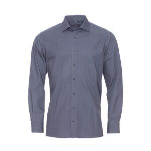 Eterna Chemise droite Eterna en coton noir à petits pois bleu marine, gris anthracite et blancs - NOIR -