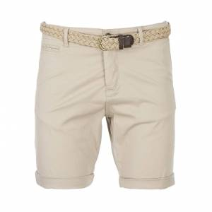 Jack & Jones Short chino Jack & Jones Lorenzo en coton stretch beige à ceinture tressée beige - BEIGE -