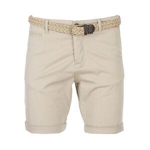 Jack & Jones Short chino Jack & Jones Lorenzo en coton stretch beige à ceinture tressée beige - BEIGE - XXL