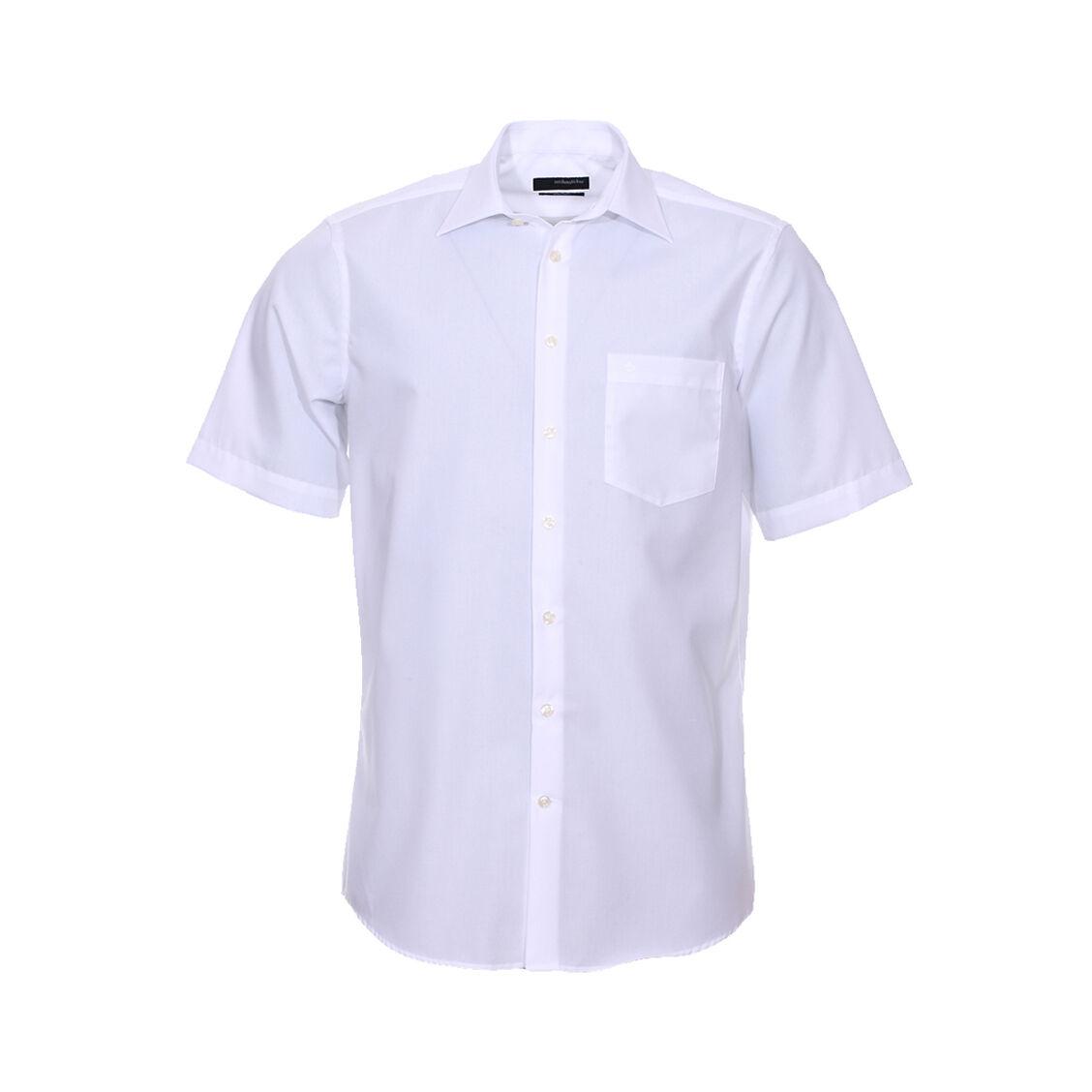 Seidensticker Chemisette droite Seidensticker unie blanche Sans repassage - BLANC - 48