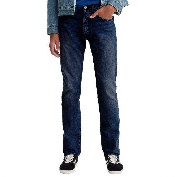 Levi's Jean Levi's 501 Slim Taper Dark Hours en coton stretch bleu brut légèrement délavé