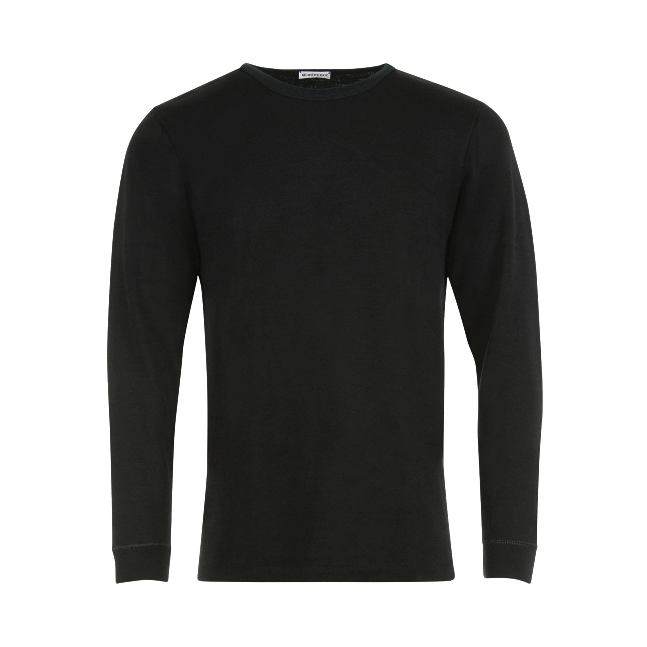 Eminence Tee-shirt manches longues col rond Eminence Chaleur naturelle intense en laine mélangée noire - NOIR -