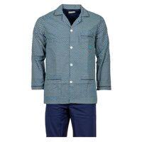 Mariner Pyjama long Mariner en coton peigné: veste bleu marine à motifs et pantalon bleu marine - BLEU - XL (T5) <br /><b>63 EUR</b> Rue des Hommes