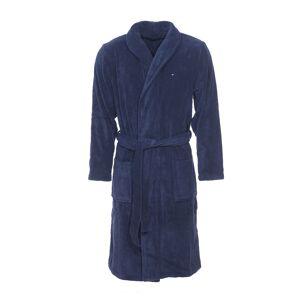 Tommy Hilfiger Underwear Peignoir de bain Tommy Hilfiger en coton bleu marine, col châle - BLEU - S - Publicité